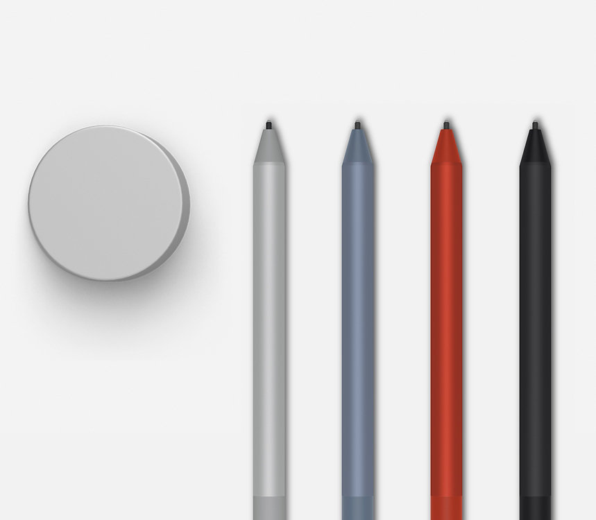 Surface Dial and Surface Pens.