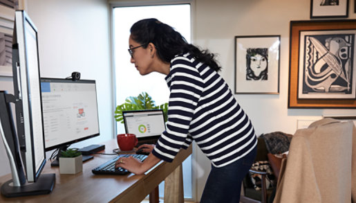 A person working in an office.