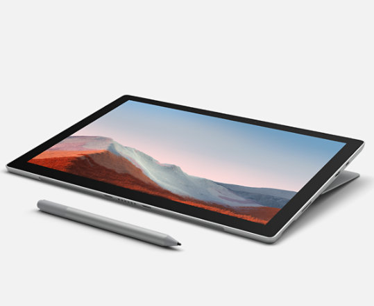 A collection of Surface Pens, keyboards, mice, and devices.