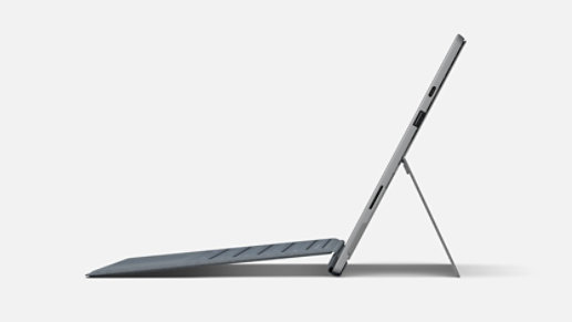 Surface Pro 7 in laptop mode.
